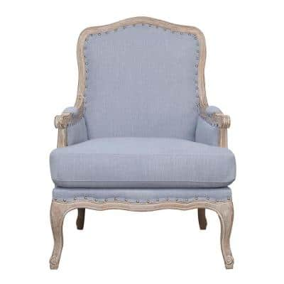 Regal Light Blue Accent Chair