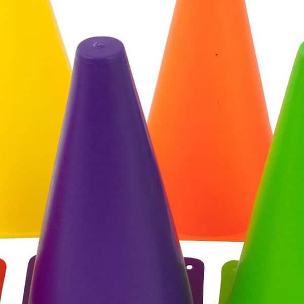 5 Colors Set of 25 BiAnYC 9 Inch (23cm) Plastic Sport Training Traffic Cone Yellow//Red//Blue//Green//Orange