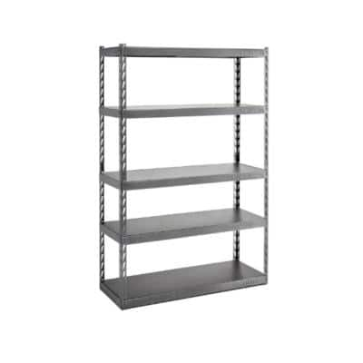 5-Tier Steel Garage Storage Shelving Unit with EZ Connect (48 in. W x 72 in. H x 18 in. D)