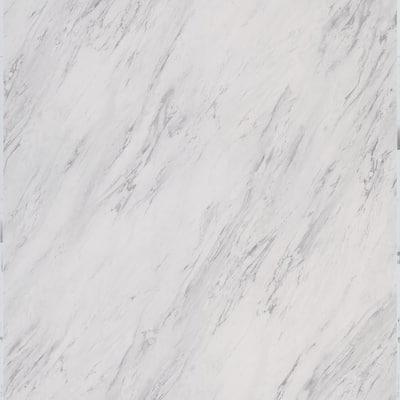 Take Home Sample - Carrara Marble Peel and Stick Vinyl Tile - 5 in. x 7 in.