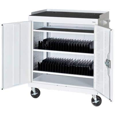 36 in. L x 24 in. D x 43 in. H Mobile Tablet Storage Cart