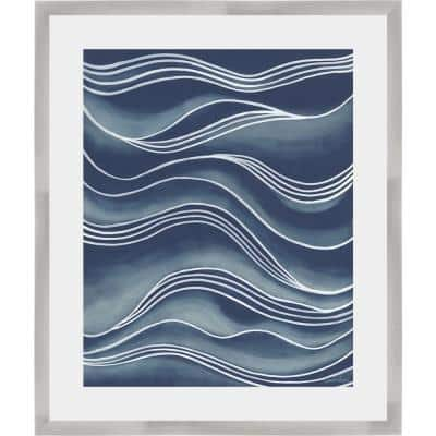 26 in. x 22 in. 'WIND & WAVES I' by Vanna Lam Framed Wall Art