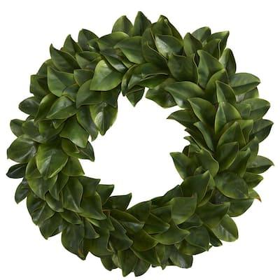 30 in. Magnolia Artificial Wreath