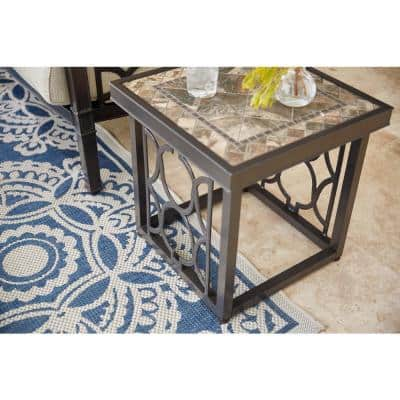 Richmond Hill Heather Slate 20 in. Square Outdoor Accent Table