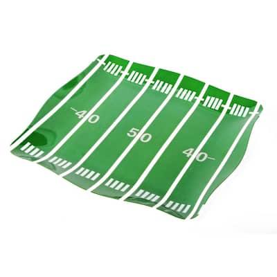 Sports Football Field Green/White Melamine Tray