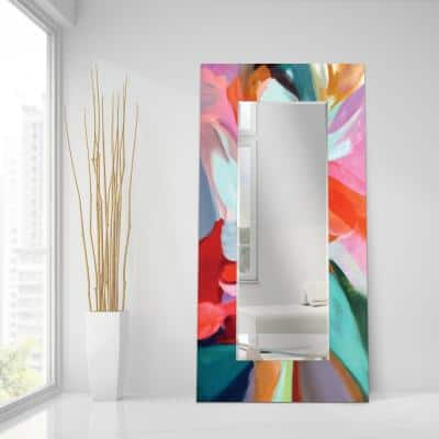 72 in. x 36 in. Integrity of Chaos Rectangle Framed Printed Tempered Art Glass Beveled Accent Mirror