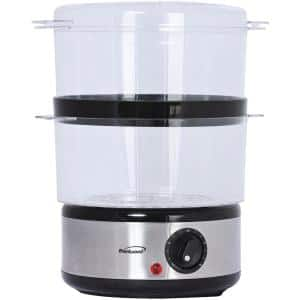 20-Cup Silver 2-Tier Food Steamer