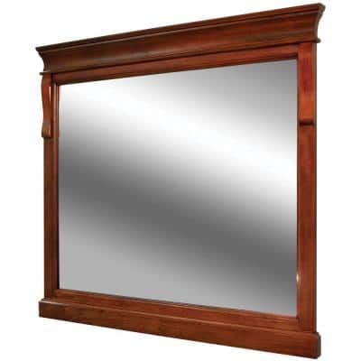 36 in. W x 32 in. H Framed Rectangular Bathroom Vanity Mirror in Warm Cinnamon