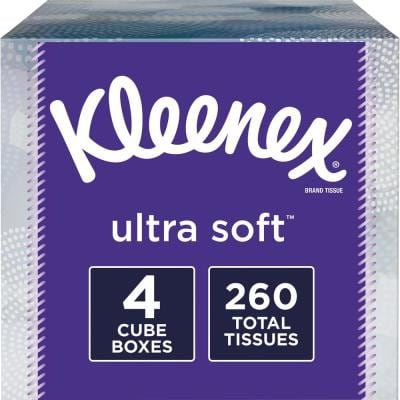 Ultra Soft 4-Pack Facial Tissue (65-Count)