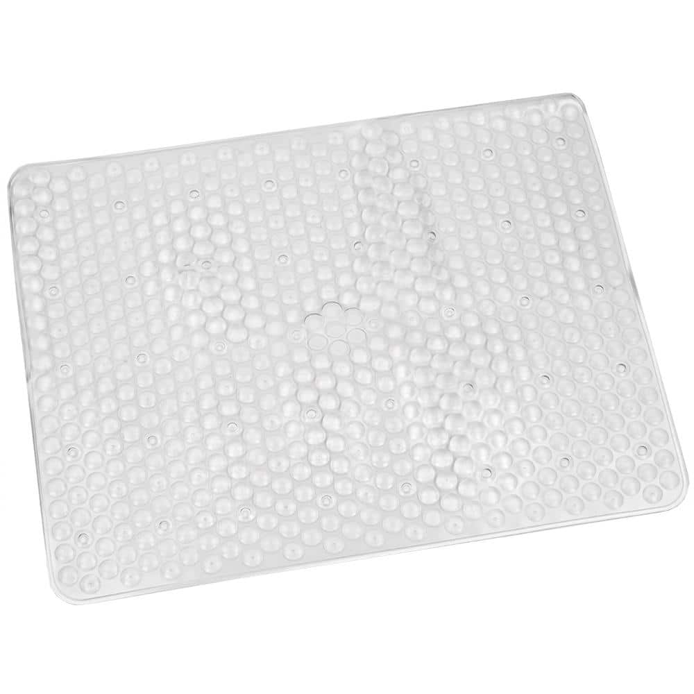Home Basics Clear Rubber Sink Mat Bm10857 The Home Depot