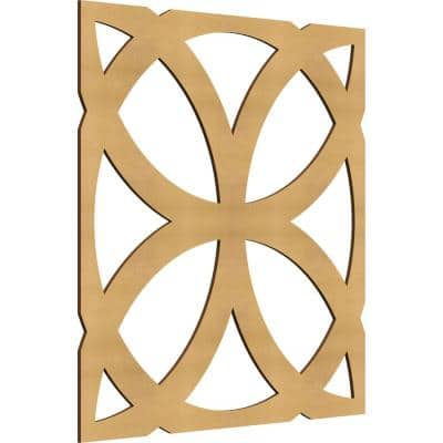 23-3/8 in. x 23-3/8 in. x 1/4 in. Wood MDF Large Daventry Decorative Fretwork Wall Panels (10-Pack)