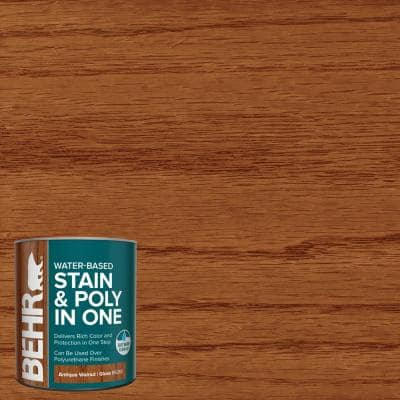 1 qt. #TIS-360 Antique Walnut Gloss Semi-Transparent Water-Based Interior Stain and Poly in One