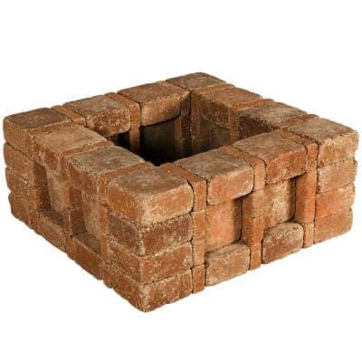 RumbleStone 33 in. x 14 in. x 33 in. Square Concrete Planter Kit in Sierra Blend