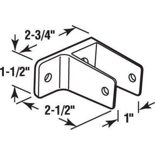 "Sentry Supply 656-2897 ""U"" Bracket & One Ear Wall Bracket Pack of ..."