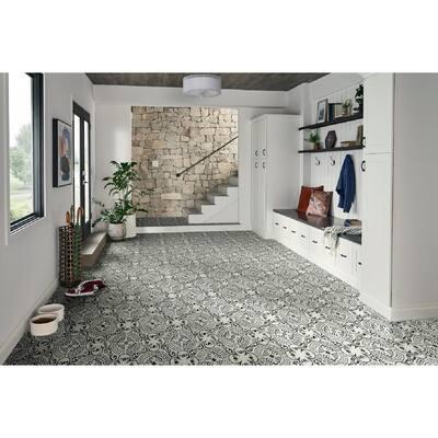 18 in. W x 18 in. L Frosty Shadow Rigid Core Click Lock Luxury Vinyl Tile Flooring (819.36 sq. ft./pallet)