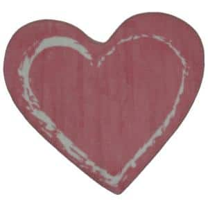 Fun Time Shape Pink Heart 3 ft. x 3 ft. Area Rug
