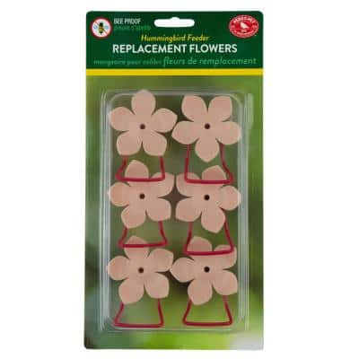 Replacement Pink Phlox Flower Feeding Ports and Perches