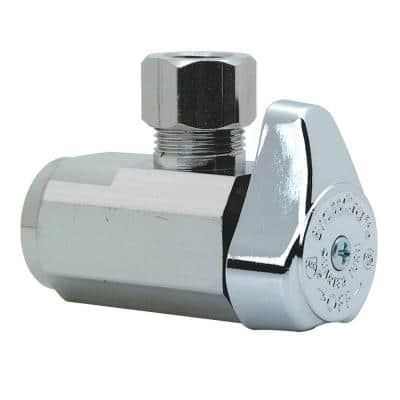 3/8 in. FIP Inlet x 3/8 in. Compression Outlet 1/4-Turn Angle Valve