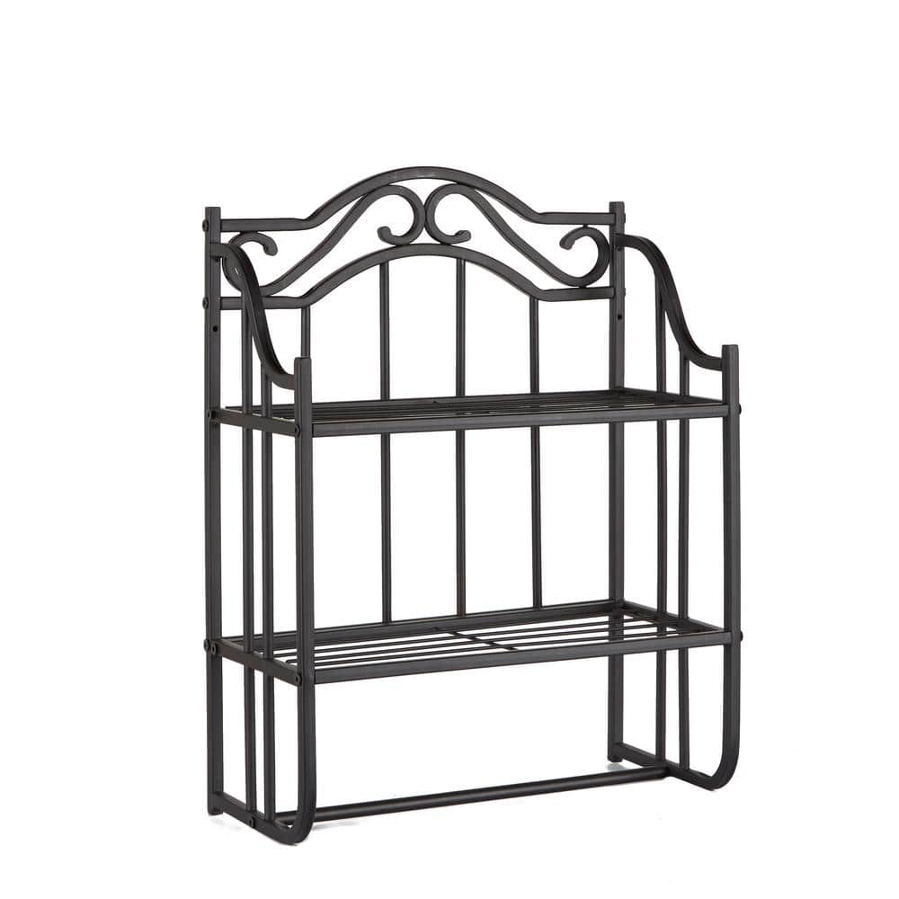 Collins 18 In W Metal Bathroom Wall Shelf In Oil Rubbed Bronze Cpbs1302a1e The Home Depot
