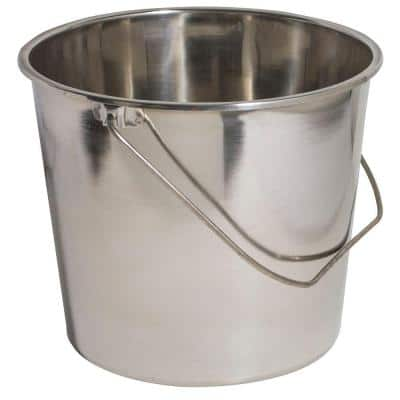 Amerihome Large Stainless Steel Bucket Set 3 Pack 801675 The Home Depot