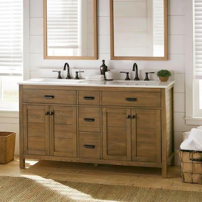 Rustic Bathroom Vanities Bath The Home Depot