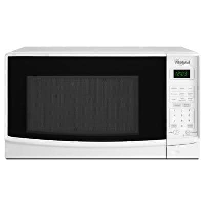 0.7 cu. ft. Countertop Microwave in White with Electronic Touch Controls