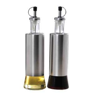 Stainless Steel Oil and Vinegar Dispensing Bottle Set