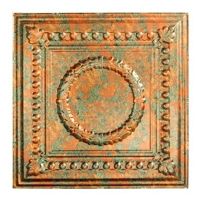 Rosette 2 ft. x 2 ft. Copper Fantasy Lay-In Vinyl Ceiling Tile ( 20 sq.ft. )