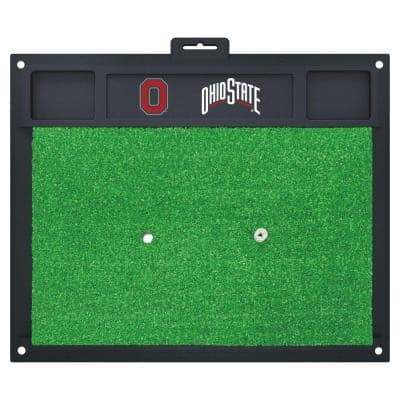 NCAA Ohio State University 17 in. x 20 in. Golf Hitting Mat