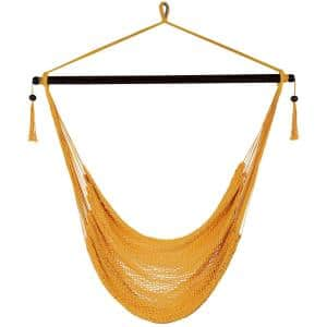 3 ft. Hanging Caribbean XL Hammock Chair in Gold