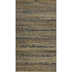 Woven Blue 7 ft. x 9 ft. Braided Natural Jute Area Rug