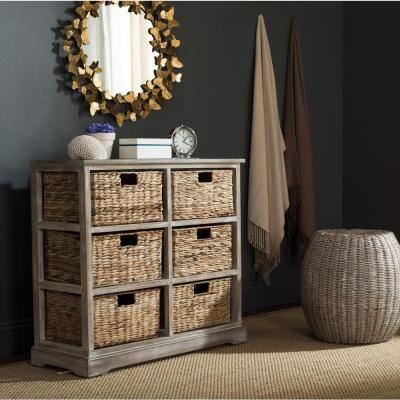 Keenan Vintage White Storage Chest