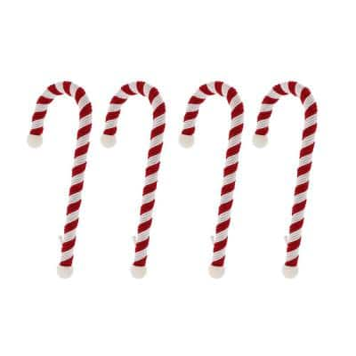 9 in. Candy Cane Large Version Stocking Holder (4-Pack)