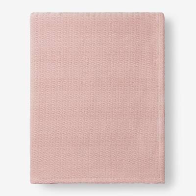Organic Cotton Rose Quartz Solid King Woven Blanket