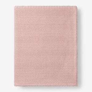 Organic Cotton Rose Quartz Solid Queen Woven Blanket