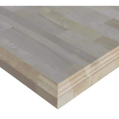 1-1/2 in. x 2 ft. x 5 ft. Allwood Birch Project Panel Butcher Block Island Table Top with Classic Roman Edges