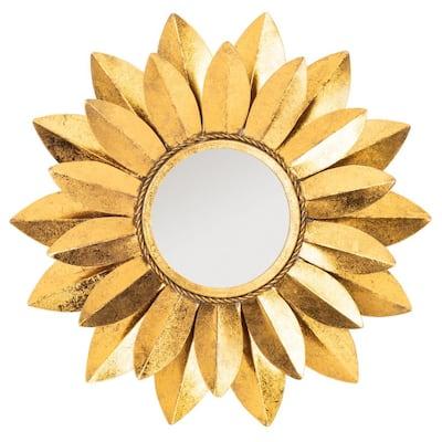 Larcen 22 in. X 22 in. Gold Foil Framed Mirror