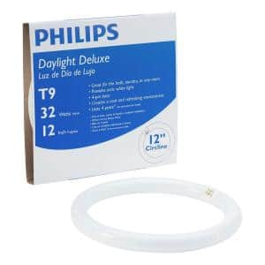 32-Watt 12 in. T9 Circline Linear Fluorescent Tube Light Bulb, Daylight Deluxe (6500K)