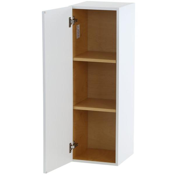 Hampton Bay Cambridge Shaker Assembled 12x36x12 5 In Wall Cabinet With 1 Soft Close Door In White Cm1236w Wh The Home Depot