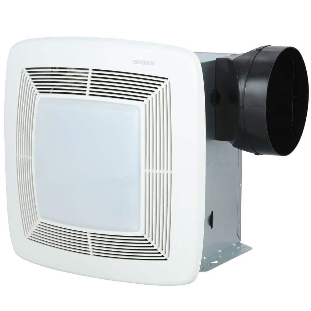 Broan Nutone Qt Series Very Quiet 110 Cfm Ceiling Bathroom Exhaust Fan With Light And Night Light Energy Star Qtxe110flt The Home Depot