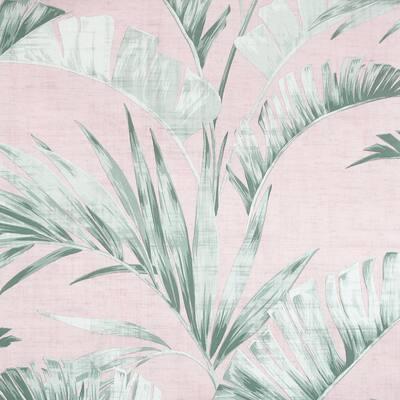Banana Palm Pink and Green Non-Woven Wallpaper