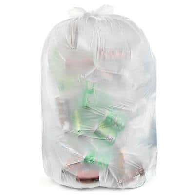 33 Gal. Clear Garbage Bags - 33 in. x 39 in. (Pack of 100) 2 mil (eq) - for Recycling, Storage and Outdoor Use