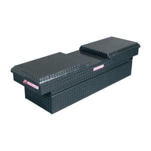 71.5 Matte Black Aluminum Full Size Crossbed Truck Tool Box