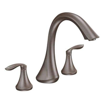 Eva 2-Handle Deck-Mount Roman Tub Faucet Trim Kit in Oil Rubbed Bronze (Valve Not Included)