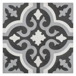 Cemento Braga Luna Encaustic 8 in. x 8 in. Cement Handmade Floor and Wall Tile (5.51 sq. ft. / Case)
