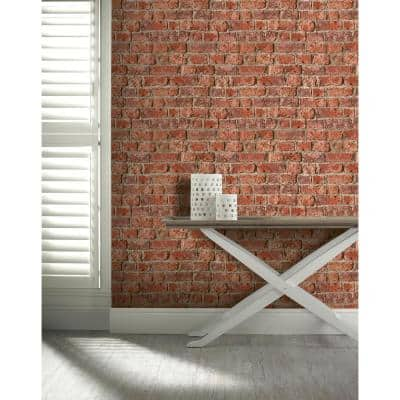 Urban Brick Paper Non-Pasted Wallpaper Roll (Covers 57 Sq. Ft.)