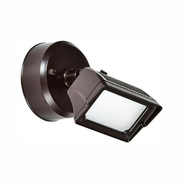 Lithonia Lighting 200-Watt Bronze Integrated LED Dusk-to-Dawn Floodlight NEW