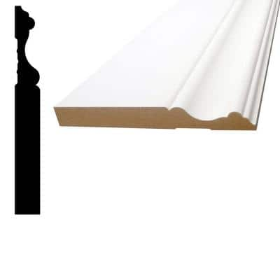 5/8 in. x 5 in. x 96 in. MDF Primed Fiberboard Base Moulding