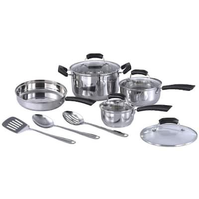 SPT 11-Piece Stainless Steel Cookware Set