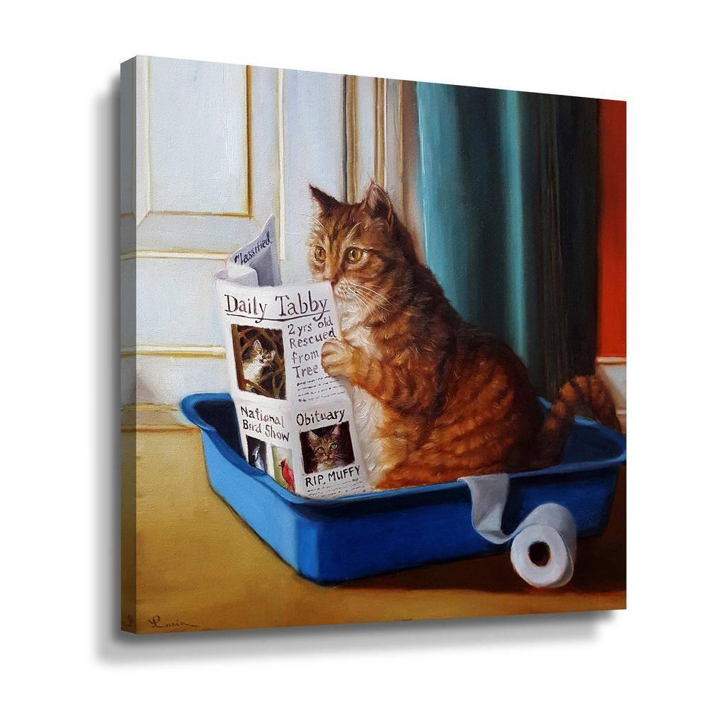 Artwall Kitty Throne By Lucia Heffernan Canvas Wall Art 5hef103a1414w The Home Depot